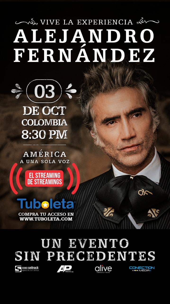 """""""Vive la Experiencia"""" ALEJANDRO FERNÁNDEZ un concierto totalmente en vivo que será transmitido desde el Auditorio Telmex en Guadalajara (México)"""