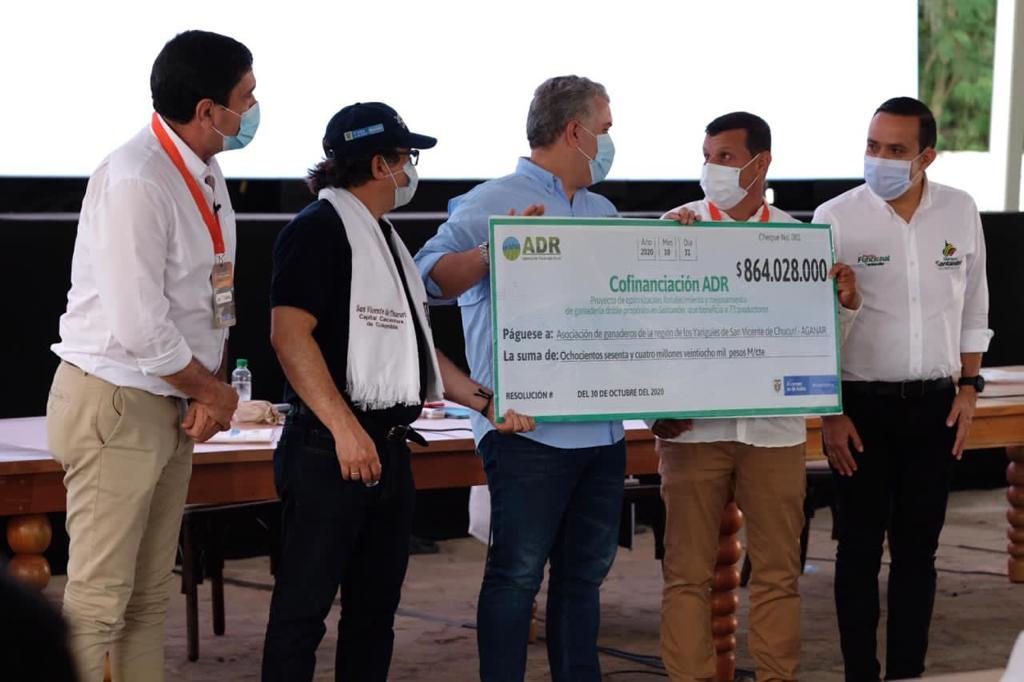 El Gobierno Nacional, a través de la ADR anunció la cofinanciación de proyectos integrales por un valor estimado de $70.500 millones
