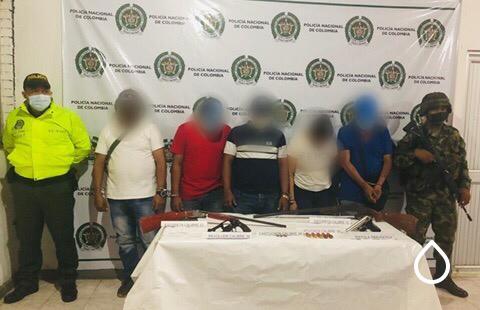 POLICÍA REALIZÓ CINCO CAPTURAS TRAS UNA DILIGENCIA DE REGISTRO Y ALLANAMIENTO