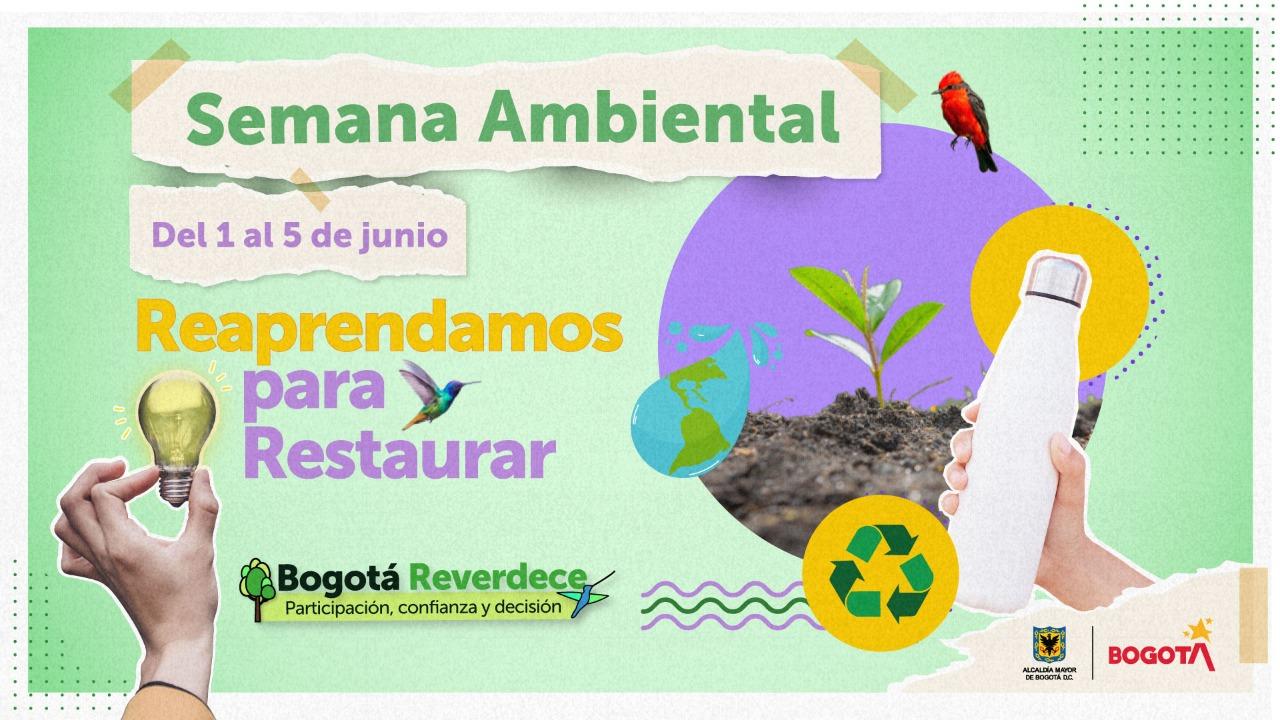 Bogotá celebrará la Semana Ambiental del 1 al 5 de junio