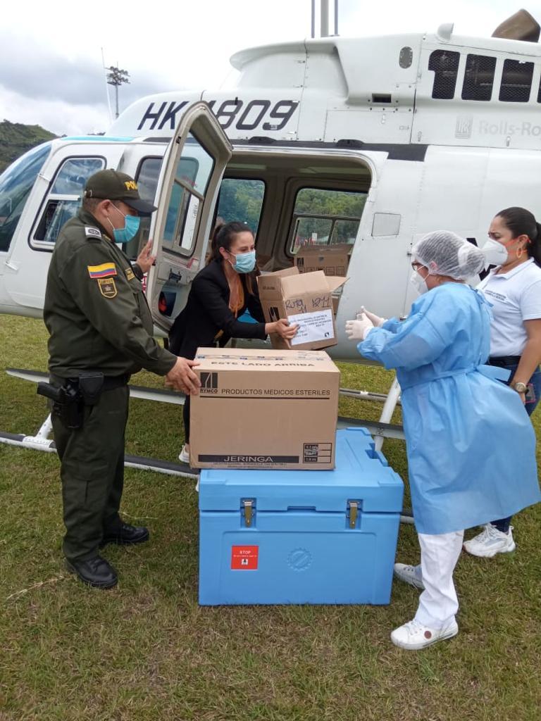 Cundinamarca primer departamento con helicóptero para traslado de vacunas contra Covid 19