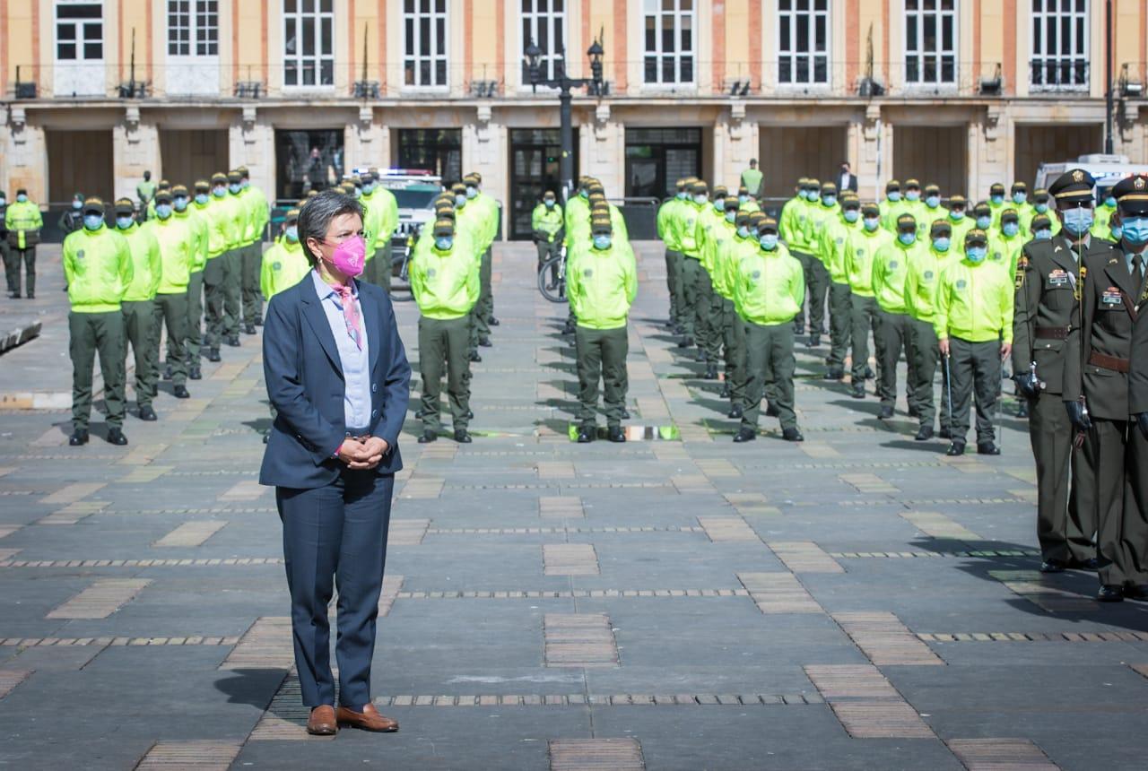 500 nuevos policías llagan a Bogotá para reforzar la seguridad y mejorar la convivencia