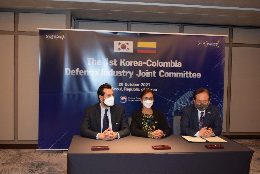 Corea comprometido con la transferencia de conocimiento y tecnología a la Fuerza Pública colombiana